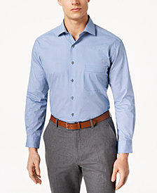 Alfani Men's Big & Tall Classic/Regular Fit Performance Stretch Easy-Care Double Dot Dress Shirt, Created for Macy's