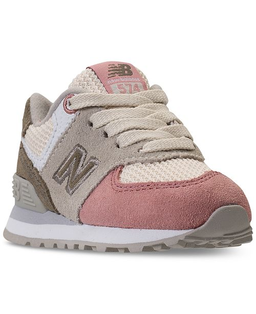 newest 46f84 89973 ... New Balance Toddler Girls  574 Serpent Lux Casual Sneakers from Finish  ...