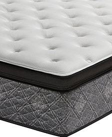 "MacyBed by Serta  Elite 14.5"" Firm Euro Pillow Top Mattress Set - King, Created for Macy's with Adjustable Base"