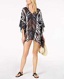 Carmen Marc Valvo Printed Caftan Cover-Up