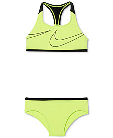 Nike 2-Pc. Racerback Bikini Swimsuit, Big Girls