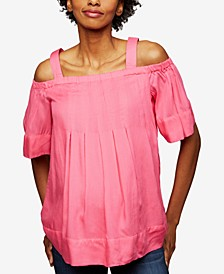 Maternity Off-The-Shoulder Blouse