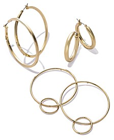 Gold-Tone Hoop Earring Separates