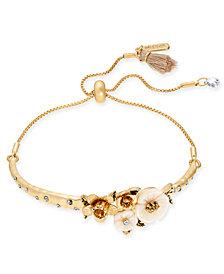 lonna & lilly Gold-Tone Flower Slider Bracelet