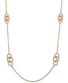 "Anne Klein Gold-Tone Interlinking Circles 42"" Strand Necklace"