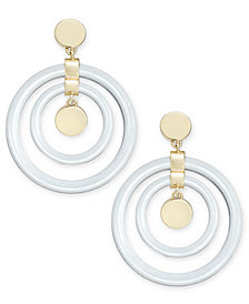 DKNY Gold-Tone Resin Drop Earrings