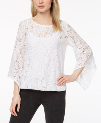 Lace Blouson Top, Created for Macy's
