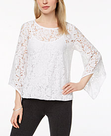 Alfani Lace Blouson Top, Created for Macy's
