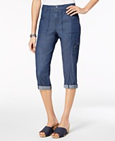 e292bdc8e Style & Co Cropped Cargo Pants, Created for Macy's