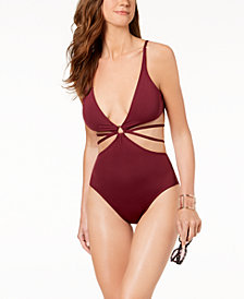 Vince Camuto Strappy One-Piece Swimsuit