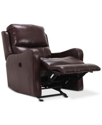Oliver Leather Power Recliner. Furniture