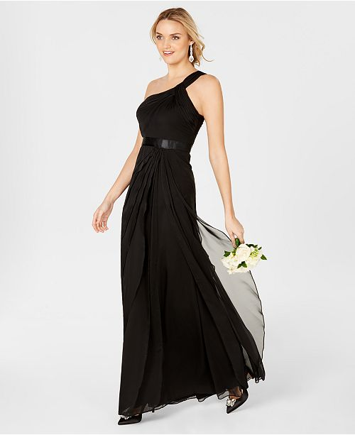 8908b8a74085 Adrianna Papell One-Shoulder Tiered Chiffon Gown & Reviews - Dresses ...