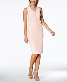Calvin Klein Looped-Trim Sheath Dress