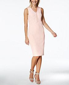 Calvin Klein Looped-Trim Sheath Dress