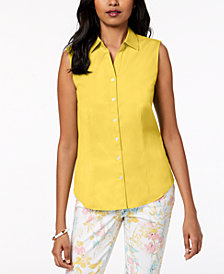 Charter Club Sleeveless Shirt, Created for Macy's