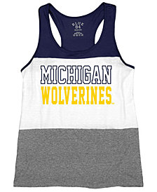Blue 84 Women's Michigan Wolverines Racerback Panel Tank Top