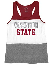 Blue 84 Women's Washington State Cougars Racerback Panel Tank Top