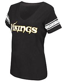 G-III Sports Women's Minnesota Vikings Sleeve Stripe T-Shirt