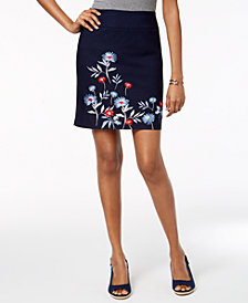 Charter Club Embroidered Skort, Created for Macy's