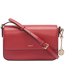 DKNY Flap Leather Crossbody, Created for Macy's
