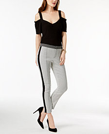 I.N.C. Cold-Shoulder Top & Skinny Pants, Created for Macy's