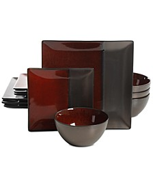 Elite Decadence Red 12-Pc. Dinnerware Set, Service for 4