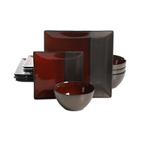 Deals on Gibson Elite Decadence Red 12-Pc. Dinnerware Set Service for 4