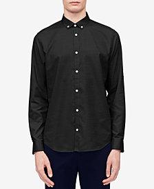 Calvin Klein Men's Big & Tall Herringbone Texture Shirt