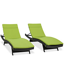 Taylor Outdoor Chaise Lounge (Set Of 2), Quick Ship
