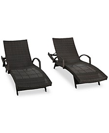 Ventura Outdoor Chaise Lounge (Set Of 4), Quick Ship