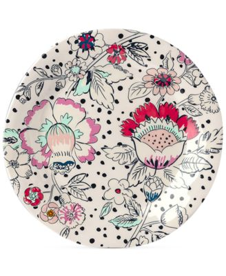 Coral Floral Melamine Accent Plate