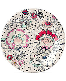Vera Bradley Coral Floral Melamine Accent Plate