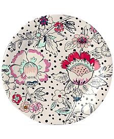 Vera Bradley Coral Floral Melamine Accent Plate