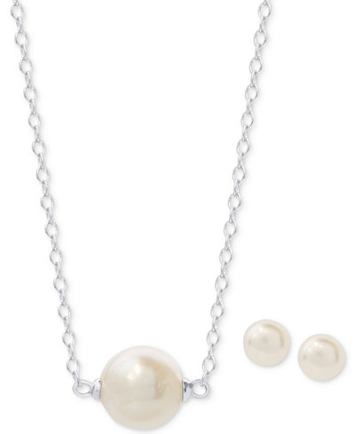 2-Pc. Set Freshwater Pearl (10 & 7mm) 18