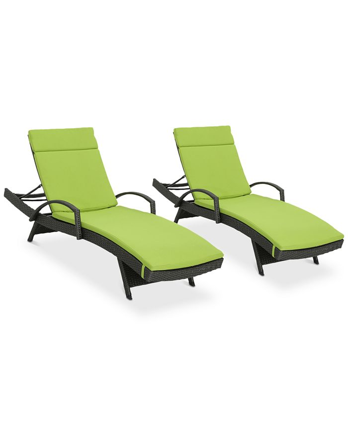 Noble House - Baja Outdoor Chaise Lounge (Set Of 2), Quick Ship