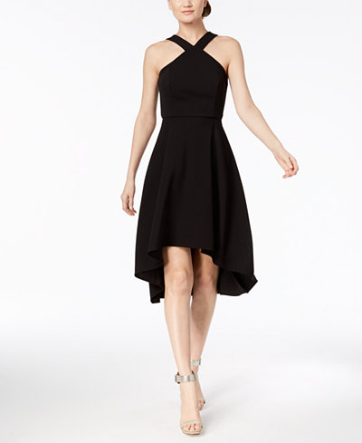 Calvin Klein Halter Fit & Flare Dress
