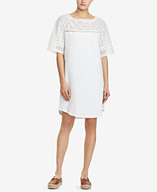 Lauren Ralph Lauren Eyelet Cotton Shirtdress