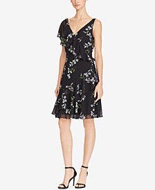 Lauren Ralph Lauren Petite Ruffled Dress, Created for Macy's