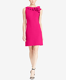 Lauren Ralph Lauren Ruffled Crepe Dress