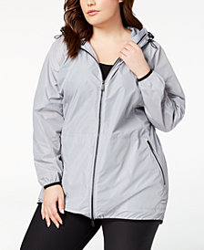 Calvin Klein Performance Plus Size Hooded Walker Jacket
