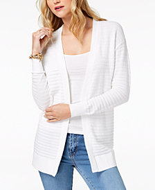 MICHAEL Michael Kors Cotton Open-Front Cardigan