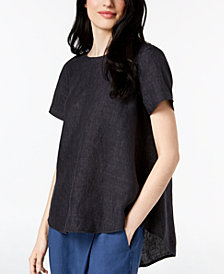 Eileen Fisher Organic Linen High-Low Tunic, Regular & Petite