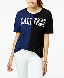 Pretty Rebellious Juniors' LA/NY Colorblocked T-Shirt