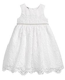 Blueberi Boulevard Embellished-Waist Lace Dress, Little Girls (4-6X)