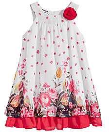 Blueberi Boulevard Floral-Print Shift Dress, Little Girls