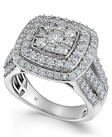 Diamond Multi-Level Composite Engagement Ring (2 ct. t.w.) in White Gold