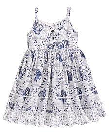 Marmellata Seashell-Print Sundress, Little Girls