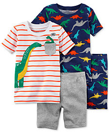 Carter's 4-Pc. Dino-Print Pajamas Set, Baby Boys