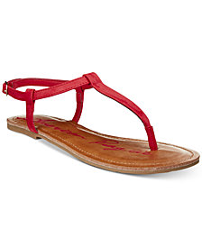 American Rag Krista T-Strap Flat Sandals, Created For Macy's