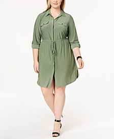 NY Collection Plus Size & Petite Plus Size Utility Shirtdress